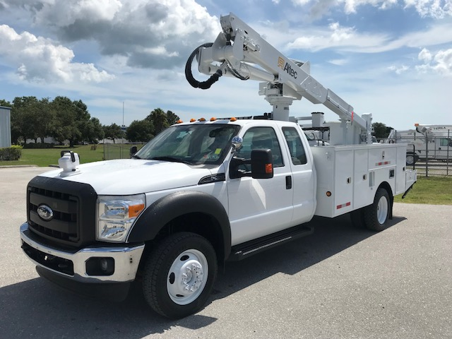 Stock # 66244 2011 Ford F550  4x4 42ft Articulating - Telescopic Bucket Truck