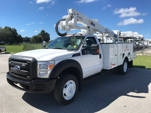 STOCK # 23697  2013 FORD F550 4X4  42FT BUCKET TRUCK
