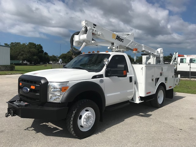 STOCK # 71453  2012 FORD F550 4X4 42FT BUCKET TRUCK