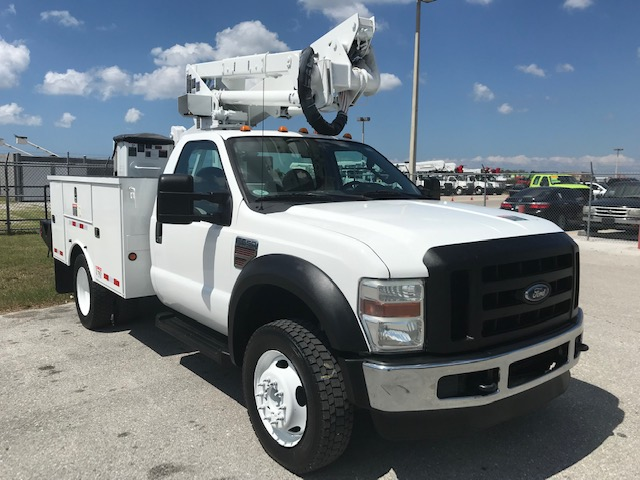 SOLD...STOCK # 43418  2010 FORD F550 42FT BUCKET TRUCK