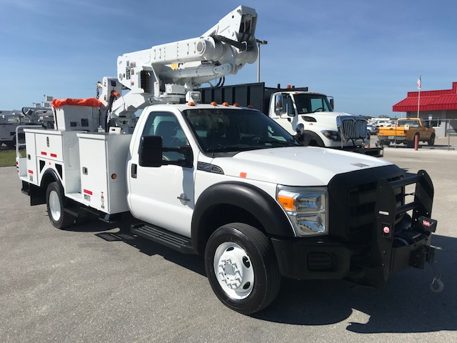 STOCK # 54684  2012 FORD F550 45FT MATERIAL HANDLING BUCKET TRUCK