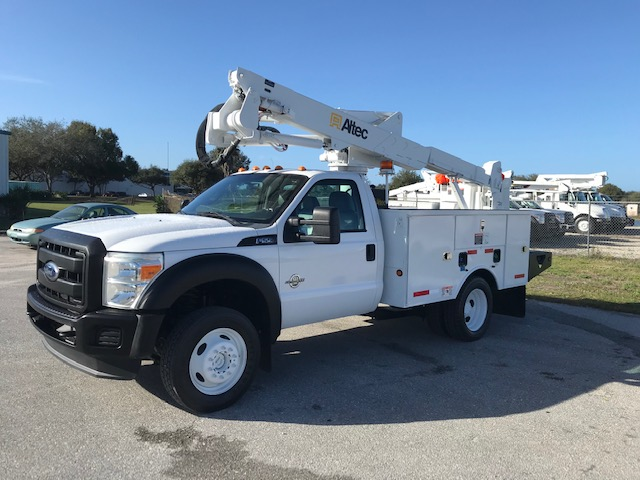 STOCK # 26742  2011 FORD F550 4X4 42FT BUCKET TRUCK