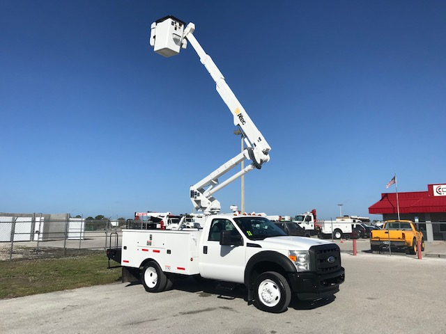 STOCK # 23118  2011 FORD F550  42FT BUCKET TRUCK