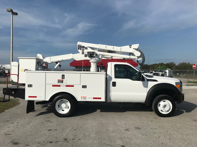 STOCK # 02038  2012 FORD F550 42FT BUCKET TRUCK
