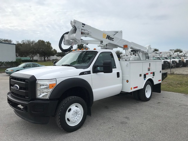 STOCK # 88367  2011 FORD F550 4X4 42FT BUCKET TRUCK