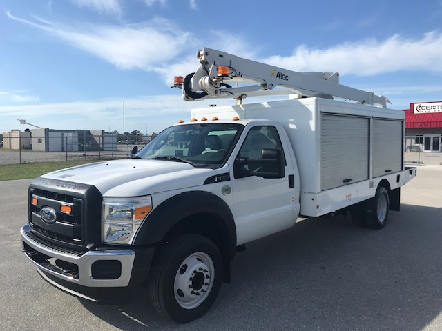 STOCK # 75164  2014 FORD F550 48FT SIGN BUCKET TRUCK