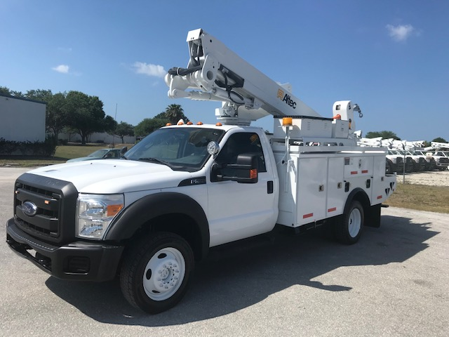 ** SPECIAL **  STOCK # 13246  2014 FORD F550 4X4  45FT BUCKET TRUCK W/ MATERIAL HANDLER